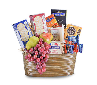 Cheese, Cracker and Fruit Delight in Harrisonburg VA, Blakemore's Flowers, LLC