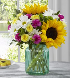 The Sunlit Meadows� Bouquet by BHG� in Sapulpa OK, Neal & Jean's Flowers & Gifts, Inc.
