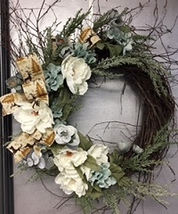 Reindeer Winter Wreath in Elyria OH, Botamer Florist & More