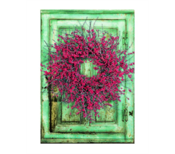 Lighted Canvas Berry Wreath in Tampa FL, Buds, Blooms & Beyond