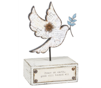 Printed Dove Figurine in Tampa FL, Buds, Blooms & Beyond