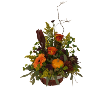 Warm Wishes Basket in Moorhead MN, Country Greenery