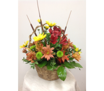 AUTUMN BASKET in Newton KS, Ruzen Flowers