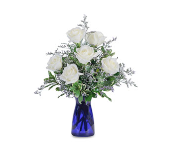 Roses in Blue in Pleasanton CA, Bloomies On Main LLC