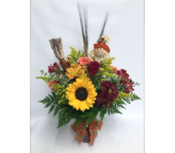Sunny Scarecrow Bouquet in Fort Pierce FL, Giordano's Floral Creations