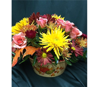 Classic Thanksgiving Centerpiece in Saratoga Springs NY, Dehn's Flowers & Greenhouses, Inc