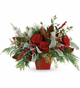 Winter Blooms Centerpiece in New Lenox IL, Bella Fiori Flower Shop Inc.