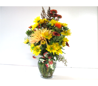 Autumn Sunshine Vase in Worcester MA, Holmes Shusas Florists, Inc