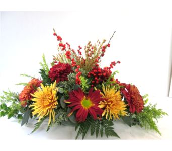 Premium Fall Mum Centerpiece in Worcester MA, Holmes Shusas Florists, Inc