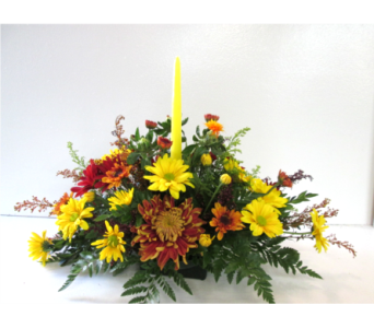 Candle Centerpiece in Worcester MA, Holmes Shusas Florists, Inc