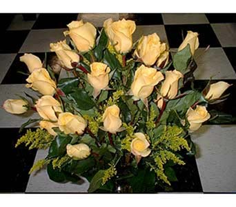 24 Yellow Roses - the Golden Gift in Dallas TX, Z's Florist
