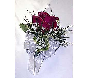 Red Rose Corsage in Raleigh NC, Gingerbread House Florist - Raleigh NC