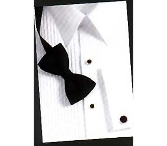 White Laydown Collar Formal Shirt in Olean NY, Mandy's Flowers