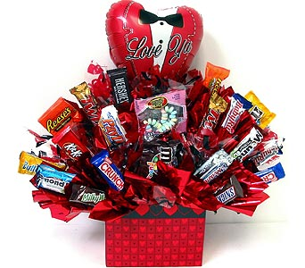 VCB41 ''Sinfully Sweet'' Candy Bouquet in Oklahoma City OK, Array of Flowers & Gifts