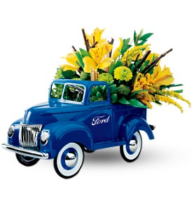 Teleflora's Classic Ford Pickup Bouquet in Muskegon MI, Barry's Flower Shop