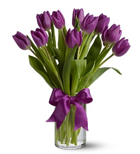 Teleflora's Passionate Purple Tulips in Norwood Young America MN, The Flower Mill Design & Gifts, LLC