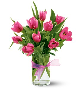 Teleflora's Precious Hot Pink Tulips in Owego NY, Ye Old Country Florist