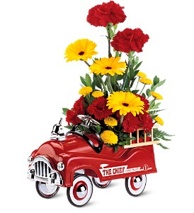 Teleflora's Fire Engine Bouquet in Jersey City NJ, A.J. Barrington's Flowers