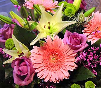 PINK TONES CUT FLOWERS BOUQUET in Etobicoke ON, VANDERFLEET Flowers