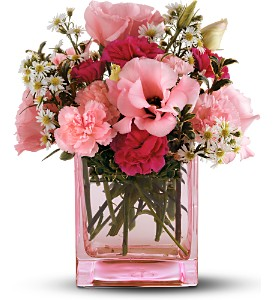 Teleflora's Pink Dawn Bouquet in Houston TX, Village Greenery & Flowers