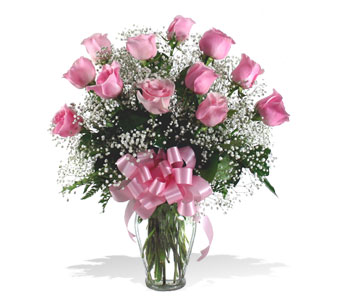 Classic One Dozen Pink Roses in McLean VA, MyFlorist