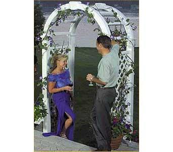 White Wedding Arbor In Grand Island Ne Roses For You