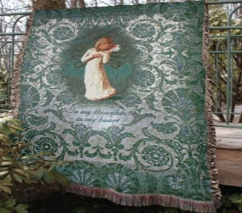 WILLOW ANGEL AFGHAN(local delivery only) in Circleville OH, Wagner's Flowers