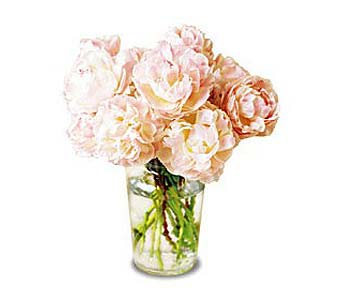 Pink Peony Vase in New York NY, CitiFloral Inc.