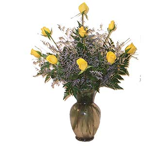 12 Long Stem Yellow Roses in Port St Lucie FL, Flowers By Susan