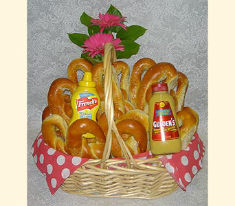 Soft Pretzel Basket in Southampton PA, Domenic Graziano Flowers