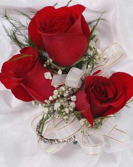 3 Rose Corsage in Southampton PA, Domenic Graziano Flowers