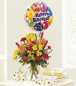 Birthday Balloon Bouquet in Arlington Heights IL, Sylvia's - Amlings Flowers