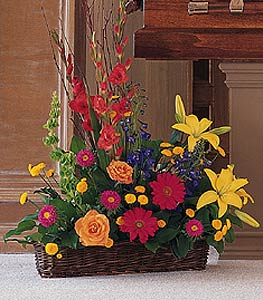 Sunshine Basket in Dallas TX, In Bloom Flowers, Gifts and More