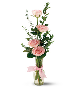 Teleflora's Rose Quartet Vase in Arlington Heights IL, Sylvia's - Amlings Flowers