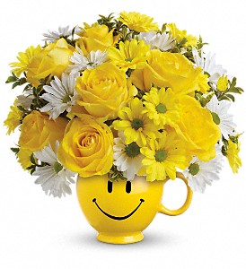 Teleflora's Be Happy Bouquet with Roses in Belford NJ, Flower Power Florist & Gifts