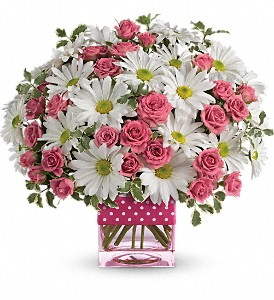 Teleflora's Polka Dots and Posies in New Hyde Park NY, B & W Mockawetch Florist Inc.