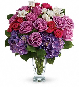 Teleflora's Rhapsody in Purple in Vancouver BC, Downtown Florist