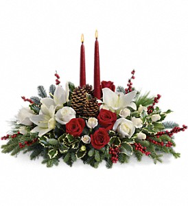 Christmas Wishes Centerpiece in Spring Lake Heights NJ, Wallflowers