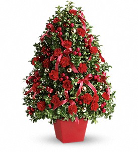 Deck the Halls Tree in Rochester NY, Red Rose Florist & Gift Shop
