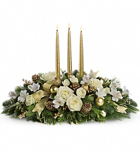 Royal Christmas Centerpiece in Rochester NY, Red Rose Florist & Gift Shop