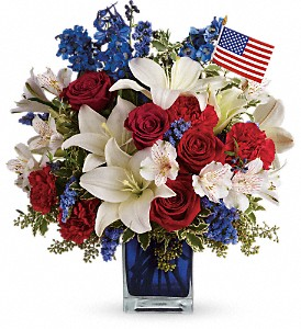 America the Beautiful by Teleflora in Amherst NY, The Trillium's Courtyard Florist