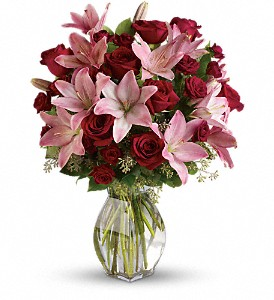 Lavish Love Bouquet with Long Stemmed Red Roses in Kelowna BC, Burnetts Florist & Gifts