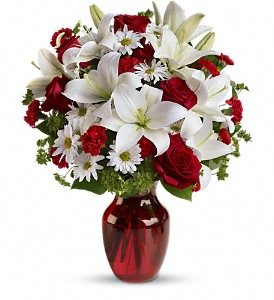 Be My Love Bouquet with Red Roses in The Woodlands TX, Rainforest Flowers