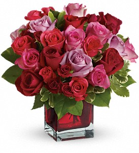 Madly in Love Bouquet with Red Roses by Teleflora in San Francisco CA, A Mystic Garden