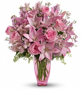 Teleflora's Pink Pink Bouquet with Pink Roses in Brandon & Winterhaven FL FL, Brandon Florist