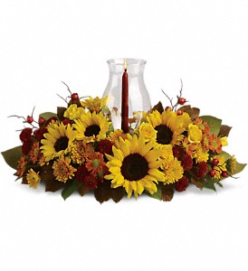 Sunflower Centerpiece in Oklahoma City OK, Array of Flowers & Gifts