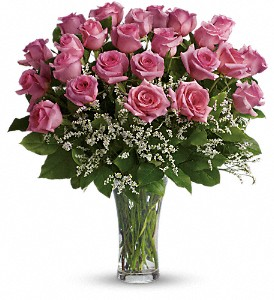 Make Me Blush - Dozen Long Stemmed Pink Roses in Needham MA, Needham Florist