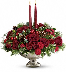 Teleflora's Mercury Glass Bowl Bouquet in Hamilton OH, Gray The Florist, Inc.