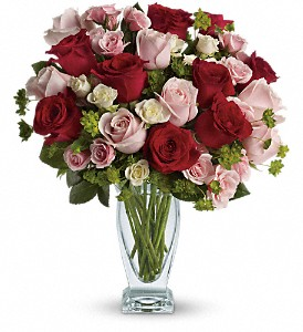 Cupid's Creation with Red Roses by Teleflora in Bartlett IL, Town & Country Gardens
