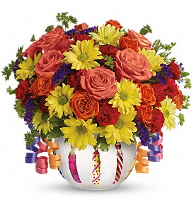 Teleflora's Brilliant Birthday Blooms in Jackson MI, Brown Floral Co.